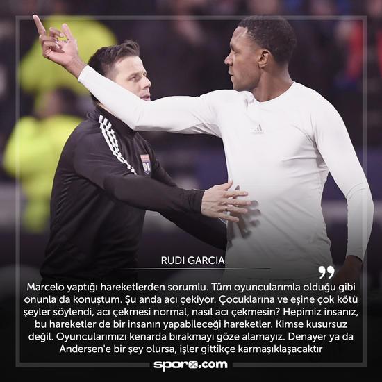 Lyon'da Rudi Garcia, Marcelo'ya sahip çıktı