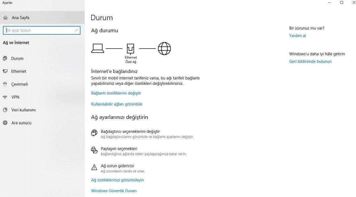 Windows'ta DNS adresi nasıl değiştirilir
