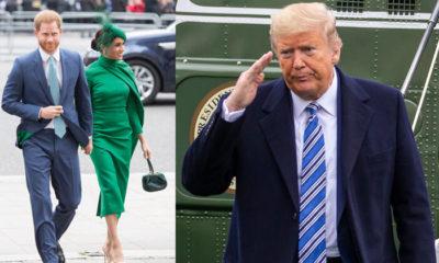 Donald Trump çifte seslendi: Harry ve Meghan, duydum ki buraya gelmişsiniz