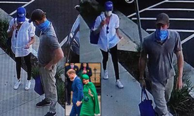 Harry ile Meghan bir buçuk ay sonra ilk kez görüntülendi: Güvenlik kamerasına takıldılar
