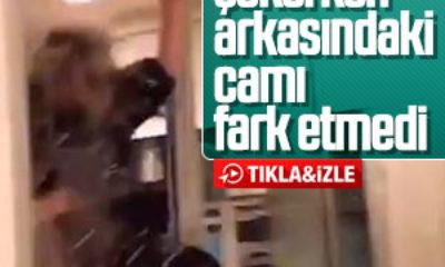 TikTok videosu çekerken cam kapıyı kırdı TikTok çekerken ölümden dönen kız – VİDEO