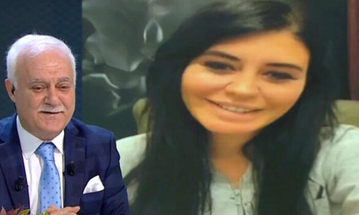Ebru Polat, Nihat Hatipoğlu'nun programına video göndererek soru sordu