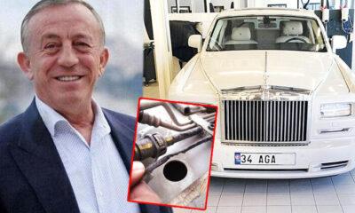 Ali Ağaoğlu'na fare şoku! Milyon euro'luk Rolls Royce Phantom büyük zarar gördü…