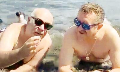 Erkan Can lie Güven Kıraç karavan tatilinde