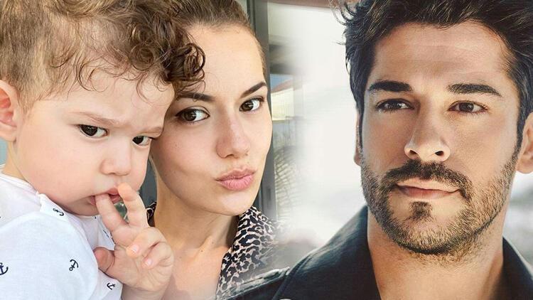 Fahriye Evcen'den oğlu Karan ile yeni paylaşım: Babası gibi keskin bakışlım...