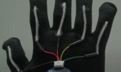 İşaret dilini konuşma diline çeviren eldiven