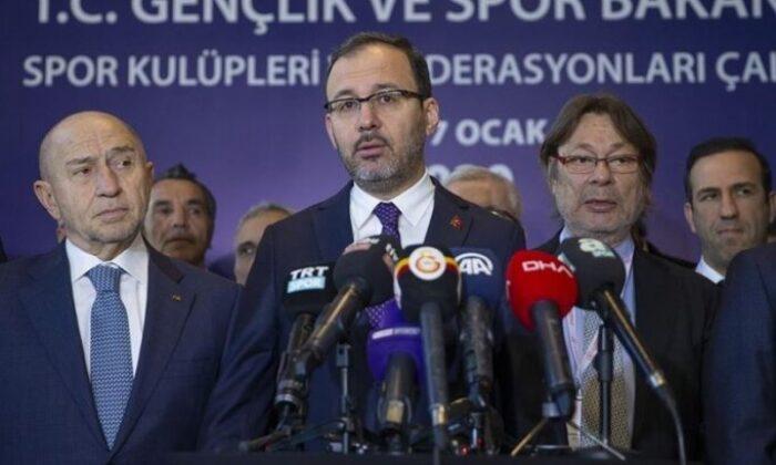 TFF'de Nihat Özdemir ve Bakan Kasapoğlu zirvesi
