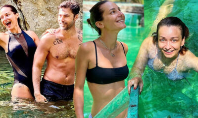 Ünlü oyuncular tatilde… 5 yıldızlı otellerin aksine kampa gittiler!