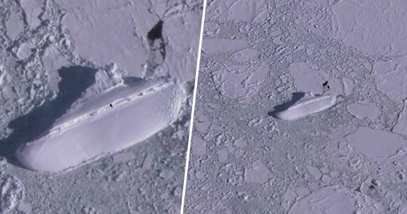 Antarktika'da donmuş bir gizemli yapı keşfedildi