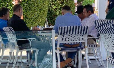 Fotoğraflar ortaya çıktı: Ali Koç, Thiam ile otelde görüştü