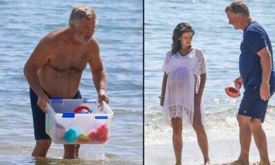 Ünlü oyuncu denizden oyuncak topladı: Dört küçük çocuk babası olmak zor!
