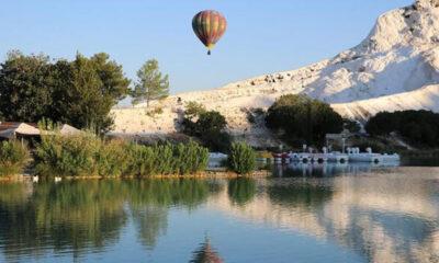 Balonlar 'beyaz cennetin' üzerinde 162 gün sonra yeniden uçuyor