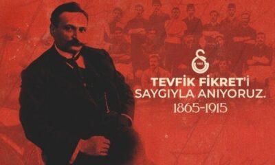 Galatasaray, Tevfik Fikret'i andı
