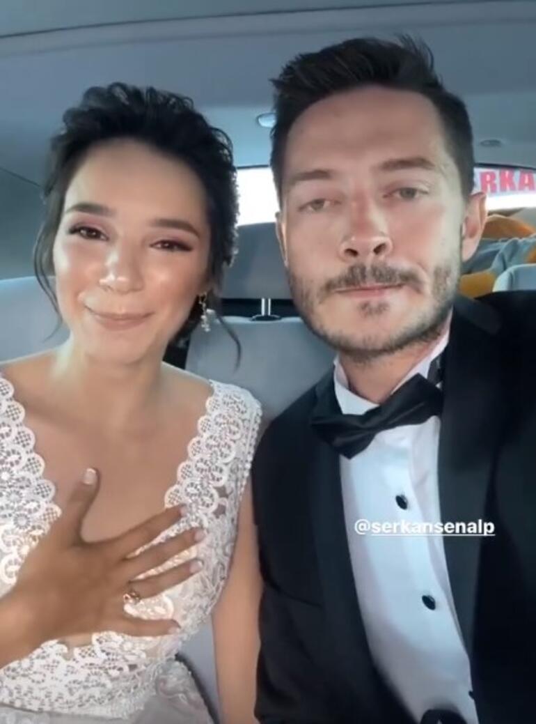 Oyuncu Serkan Şenalp ve Esengül Yılmaz düğün yaptı