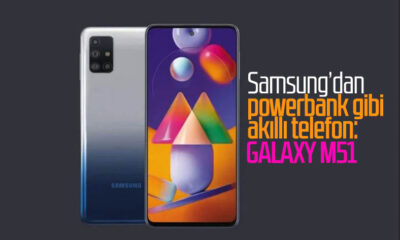 Samsung'un 7000 mAh bataryaya sahip telefonu: Galaxy M51