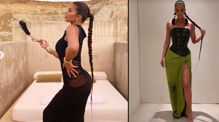 Kim Kardashian, kardeşi Kylie Jenner'a özendi