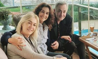 Arzum Onan ve eşi Mehmet Aslantuğ, Gülenay Kalkan'ı yalnız bırakmıyor