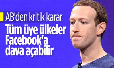 Avrupa Birliği mahkemesi: Üye ülkelerin tümü Facebook'a dava açabilir