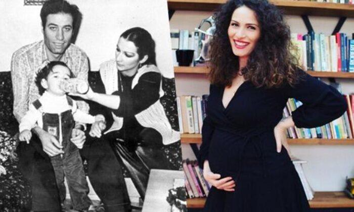 Kemal bir torunumuz daha oluyor Kemal Sunal'ın kızı Ezo Sunal'ın 30 haftalık hamile