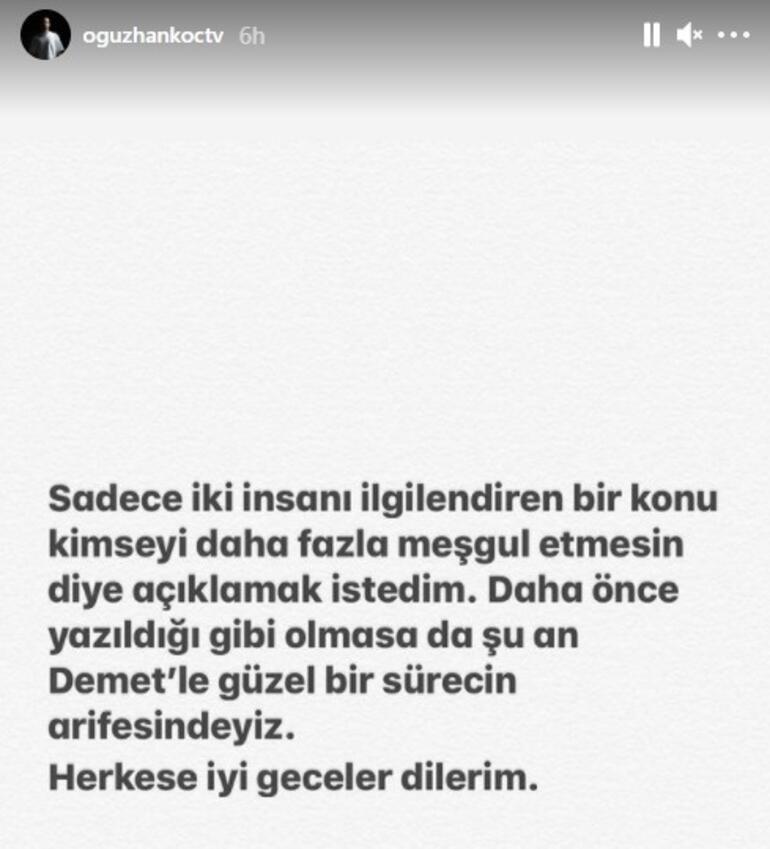 Oğuzhan Koç, Demet Özdemir'e olan aşkını ilan etti