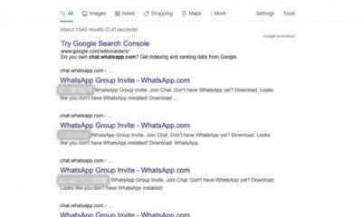 WhatsApp gizli grup bağlantıları, Google arama sonuçlarında listelendi