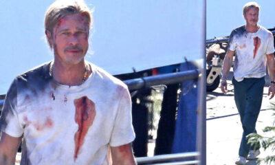 Brad Pitt kanlar içinde
