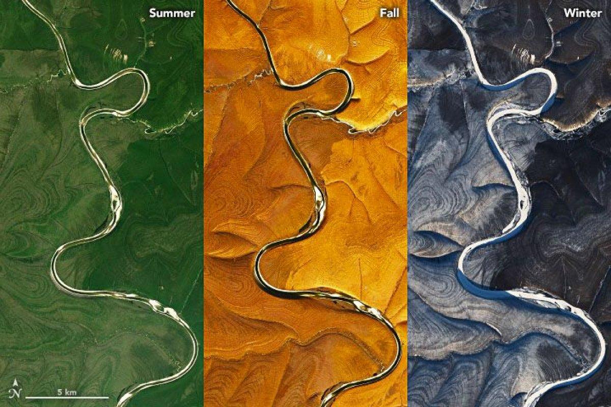 Rusya'daki gizemli çizgiler uydudan gözlemlendi