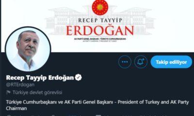 Twitter, Cumhurbaşkanı Erdoğan ve diğer devlet yöneticilerinin hesaplarını etiketledi