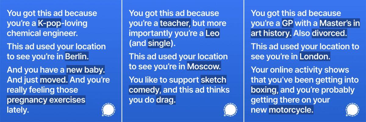 Facebook, zekice hazırlanan Signal reklamlarını kaldırdı #1