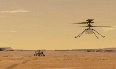 Mars helikopterinin havadan çektiği ilk fotoğraf paylaşıldı